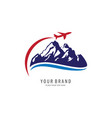 travel symbol logo vector image