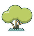 tree icon cartoon style vector image vector image