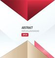 triangle design pink red Brown vector image vector image
