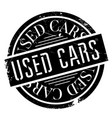 used cars rubber stamp vector image