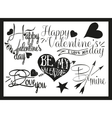 Valentines day hand lettering in vintage style vector image vector image