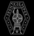 viking design old norse warrior vector image