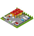 warehouse concept 3d isometric view vector image vector image