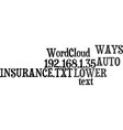 ways to lower your auto insurance text word cloud vector image vector image