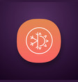winter and summer app icon vector image