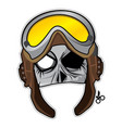 zombie invasion paper mask - wwii pilot vector image
