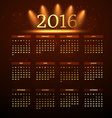 2016 calender vector image vector image