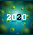 2020 stop coronavirus design with falling covid-19 vector image
