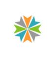 abstract arrow circle star logo template vector image vector image