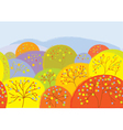 Autumn trees seamless banner vector image vector image