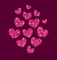 Background for Valentines Day with Shimmering vector image vector image