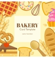 Bakery Flat Card Template vector image vector image