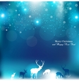 beautiful christmas background with reindeer vector image