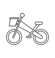 bicycle with basket transport game adventure sport vector image vector image