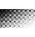 black and white dotted halftone background vector image
