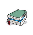 book on a white background vector image vector image