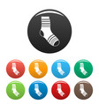 boy sock icons set color vector image vector image