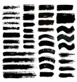 brush strokes set 12 vector image vector image