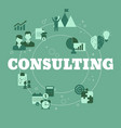 business consulting concept consulting vector image vector image