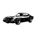 car silhouette gto vector image