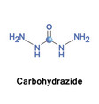 carbohydrazide chemical compound vector image