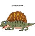 cartoon funny dimetrodon vector image vector image