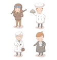 Cartoon set of four different occupations vector image