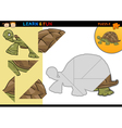 Cartoon turtle puzzle game vector image vector image