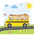 Children in School Bus vector image