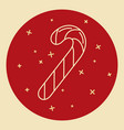christmas candy cane icon in thin line style vector image