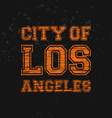 City of Los Angeles - Artwork for wear in custom vector image