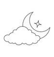cloud weather with moon vector image