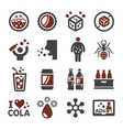 cola icon vector image vector image