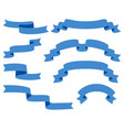 collection ribbons - with blue - eps10 vector image vector image
