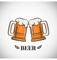 Cups of beer vector image vector image