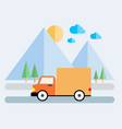 delivery van icon vector image