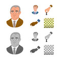 design of checkmate and thin icon set of vector image vector image