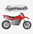 design supermoto racing team vector image vector image
