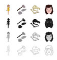 eyelids history study and other web icon in vector image vector image