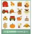 farm icons vector image