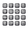 finance icons and buttons vector image vector image