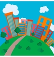 Flat Style Urban Landscape in day vector image vector image