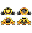 gold and black icon design for game ui vector image vector image