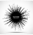 halftone star frame grunge spot halftone circle vector image vector image