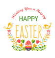 happy easter isolated icon religious holiday egg vector image vector image