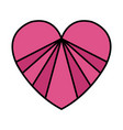 heart love valentines card vector image vector image