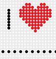 I love dots vector image