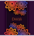 indian pattern happy diwali festival background vector image