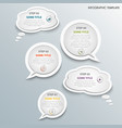 info graphic with white design talking bubbles vector image
