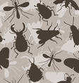 Insects Bee Beetles Mosquito vector image vector image